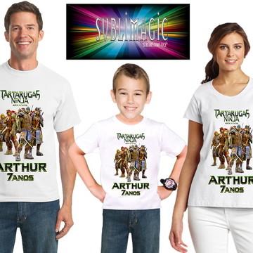 Kit 3 Camisetas Tartarugas Ninja