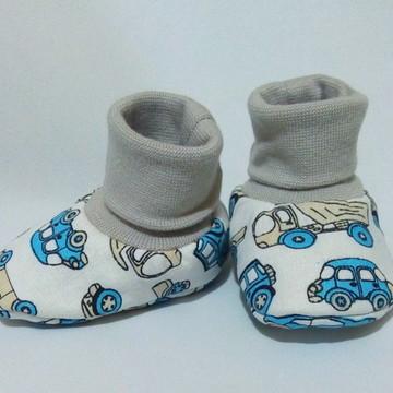 Sapatinho meia de bebê menino