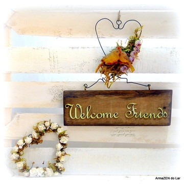Guirlanda Welcome friend - Casamento