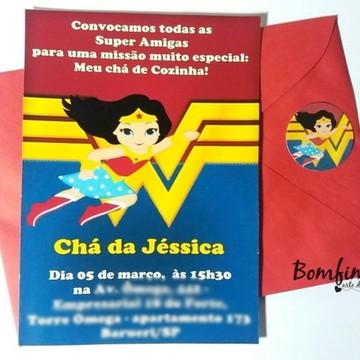 Convite Mulher Maravilha