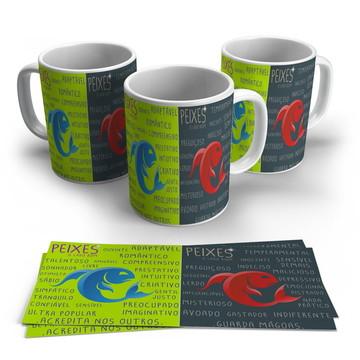 Caneca Porcelana Signos -Peixes
