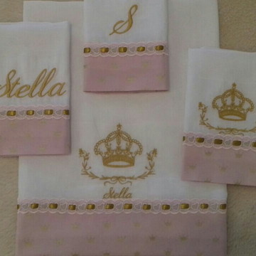 Kit Fralda Princesa 4 itens