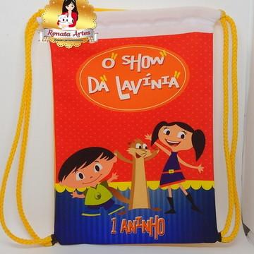 Mochila de tecido O SHOW DA LUNA