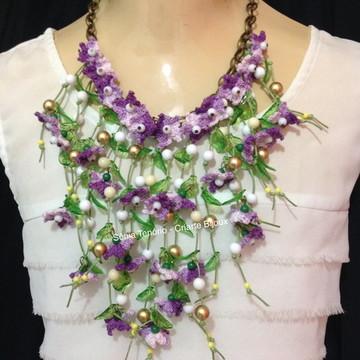Colar Florzinhas de Crochê 10