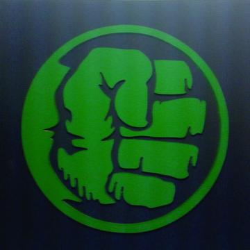 Hulk, quadro em alto relevo