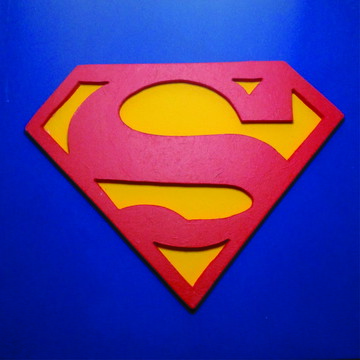 Superman, quadro em alto relevo