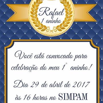 Convite digital reinado
