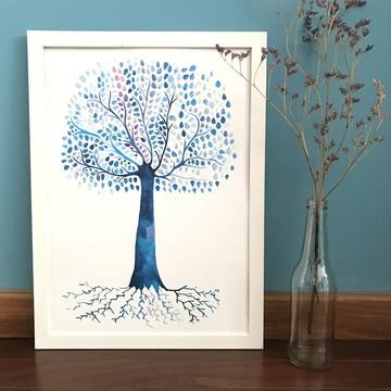 Aquarela Impressa | Árvore da vida