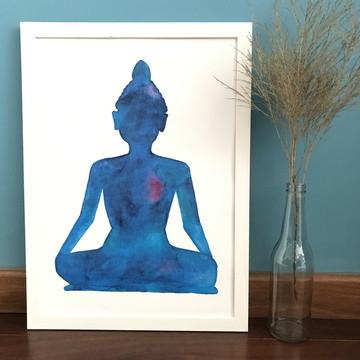 Aquarela Impressa   Buda