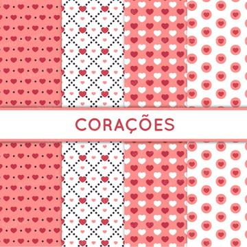 Kit Scrapbook Digital / Corações