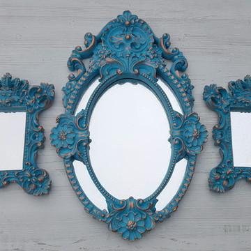 Kit 3 Espelhos Decorativos Provençal