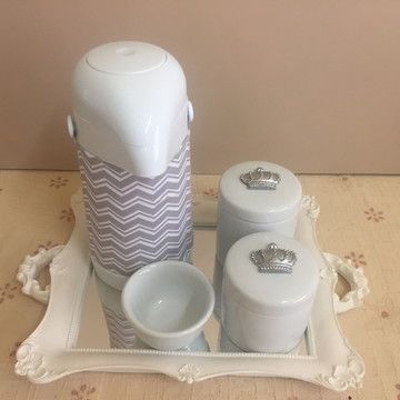 Kit Higiene Prata Realeza