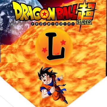 faixa com PARABENS + nome tema Dragon Ball