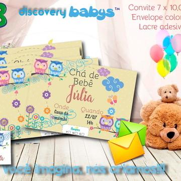 Convite Chá de bebê Coruja