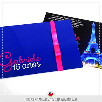 Convite Paris - 15 anos