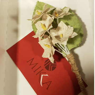 Flor de Lapela off white - papel artesanal - boutonniere