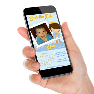 Convite Digital Whatsapp - Príncipe
