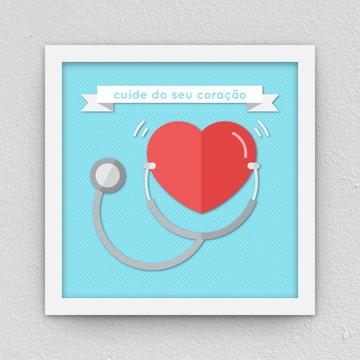 Quadro: Cuide do seu coração