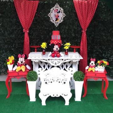 Kit Decoração Minnie vermelha