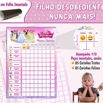Quadro de Incentivo Princesas Disney