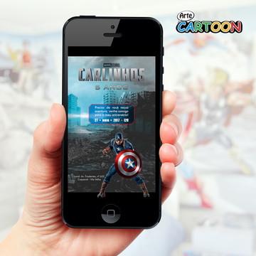 Convite Capitão América - WhatsApp