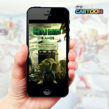 Convite Hulk - WhatsApp