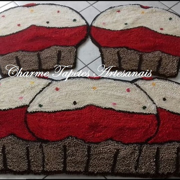 Kit Tapete cozinha cup cake 03 peças