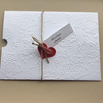 Envelope para convite branco textura 15x21,5 cm