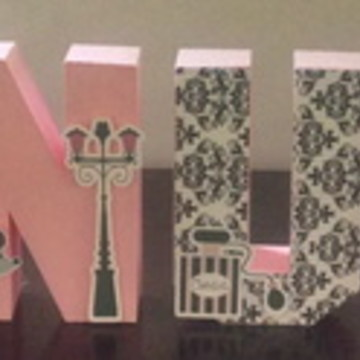 Letras 3D tema Paris