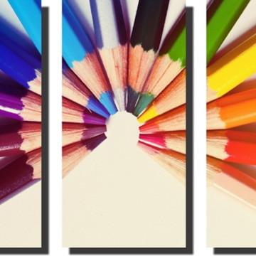 Quadro Decorativo de Lápis de cor