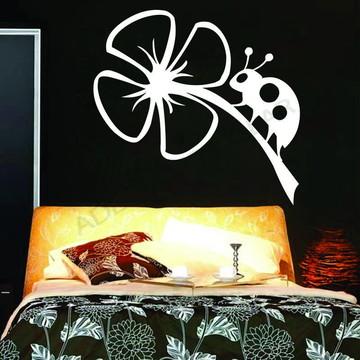 Adesivo - FLORAL - Joaninha na Flor