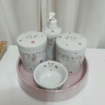 kit porcelana ursa rosa