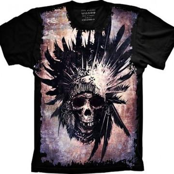 Camiseta Caveira Cacique