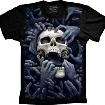 Camiseta Caveira Mãos
