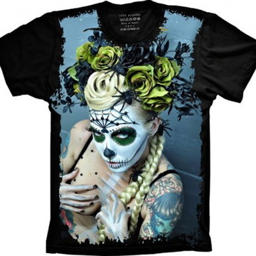 Camiseta Caveira Mexicana 4