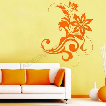 Adesivo - FLORAL - Arabesco florido