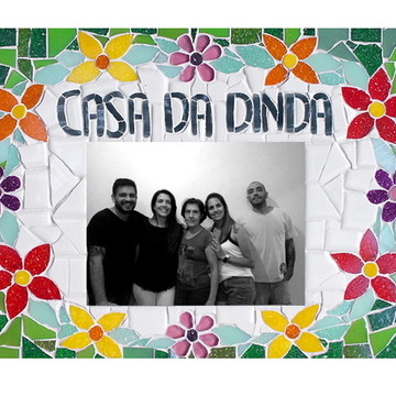 20x30 Casa da Dinda - Plaquinha em Mosaico