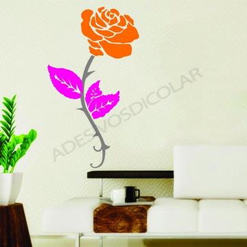 Adesivo - FLORAL - Rosa Solitária