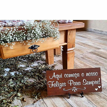 Placa para Casamento estilo Rústico IIII