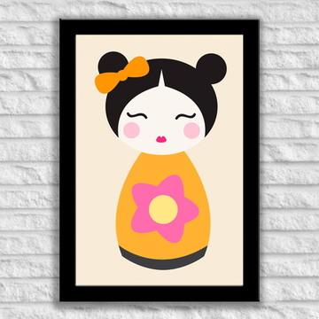 Poster com Moldura Bonequinha Chinesa