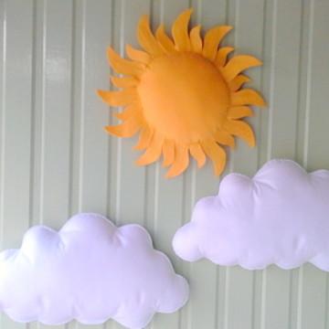 Kit Nuvens e sol Grande