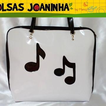 Bolsa Música Notas Musicais