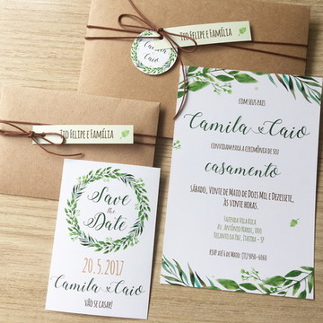 Convite Casamento + SavetheDate Rústico
