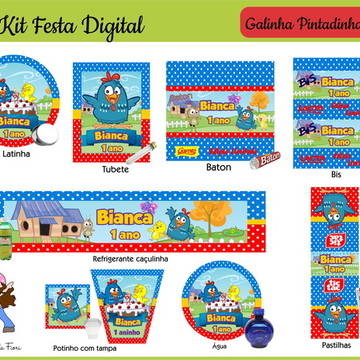 Kit Festa Digital Galinha Pintadinha