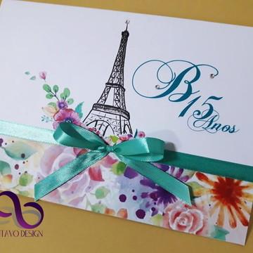 Convite de 15 Anos Paris