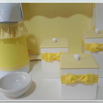 Kit Higiene Petit Poá Amarelo