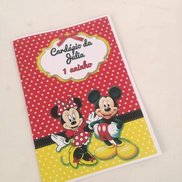 Cardápio Mickey e Minnie