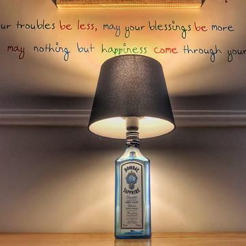 Abajur de garrafa Bombay Gin