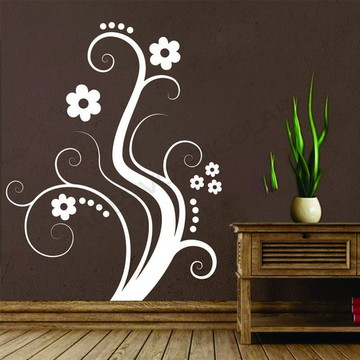 Adesivo - FLORAL - Floral com curvas