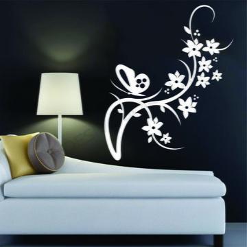 Adesivo - FLORAL - Floral e Borboleta